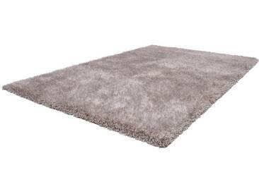 LALEE Hochflor-Teppich »Samba 800«, rechteckig, Höhe 30 mm, besonders weich durch Microfaser, silberfarben, 30 mm, silberfarben-weiß