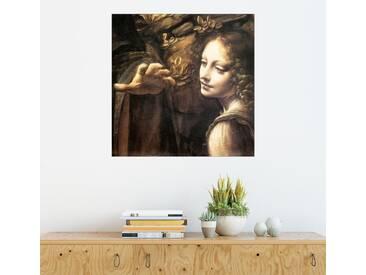 Posterlounge Wandbild - Leonardo da Vinci »Madonna in der Felsengrotte (Detail)«, braun, Poster, 30 x 30 cm, braun