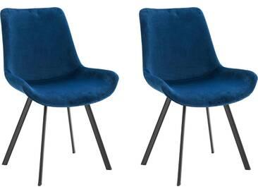 Steinhoff Stühle »Rose« (2 Stück), blau, dunkelblau