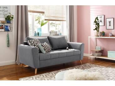 Home affaire 2-Sitzer »Jordsand«, mit feiner Steppung im skandinavischem Design, grau, 160 cm, hellgrau