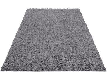 Home affaire Hochflor-Teppich »Shaggy 30«, rechteckig, Höhe 30 mm, grau, 30 mm, grau