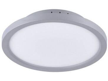 Leuchten Direkt LEUCHTEN DIREKT LED-Deckenleuchte 30cm rund silber Serienschaltung »FLAT«, silberfarbig