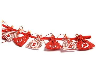 Hotex Adventskalender Girlande rot/weiß
