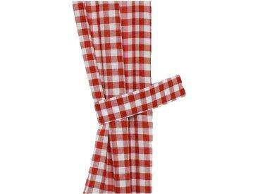 Wirth Raffhalter »Finja«, Gardinen, (Set, 2-tlg), rot, rot