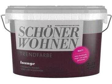 SCHÖNER WOHNEN-Kollektion SCHÖNER WOHNEN FARBE Wand- und Deckenfarbe »Trendfarbe Lounge, matt«, 2,5 l, lila, Lounge