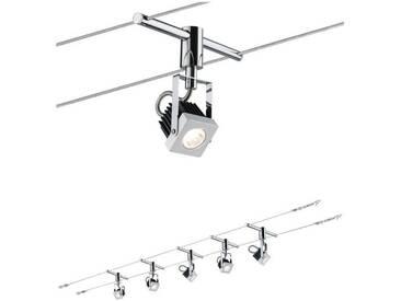 Paulmann LED Deckenleuchte »Wohnzimmerlampe LED 5x5W Mezzo 230/12V, Weiß«, Seilsystem, 5-flammig, weiß, 5 -flg. /, weiß