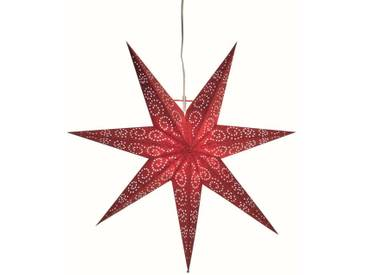 STAR Star Papierstern zum Hängen, mit Kabel »Metasol«, rot, Breite x Tiefe x Höhe in cm : 60 x 16 x 60, Rot