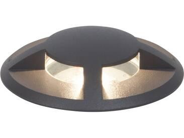 AEG Leuchten Einbauleuchte »TRITAX«, 1-flammig, Bodenleuchte, grau, 1 -flg. / Ø9 cm, anthrazit