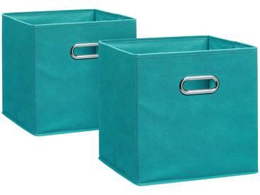 Zeller Present ZELLER Aufbewahrungsbox »2er Set«, 28 x 28 cm, blau, petrol