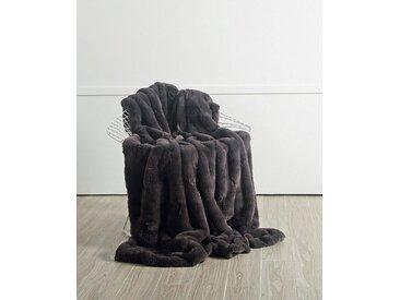 Star Home Textil Wohndecke »Merino«, aus besonders weichem Webpelz, grau, grau