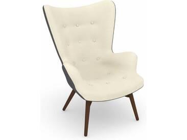 Max Winzer® build-a-chair Hochlehner Stuhlsessel »Arne« im Retrolook, zum Selbstgestalten, natur, Korpus: Flachgewebe 16452 grau