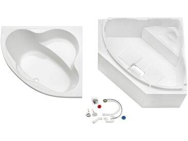 OTTOFOND Badewanne »Set Eckwanne«, praktisches Set, weiß
