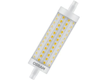 Osram LED SUPERSTAR LINE R7s, LED-Lampe, dimmbar »SST LINE 118.0 mm 125 15 W/827 R7s«, weiß, weiss