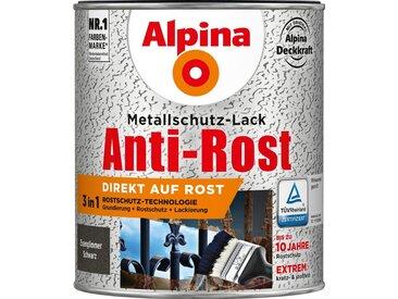 Alpina ALPINA Metallschutzlack »Anti-Rost - Eisenglimmer Schwarz«, 3 in1, 750 ml, schwarz, schwarz