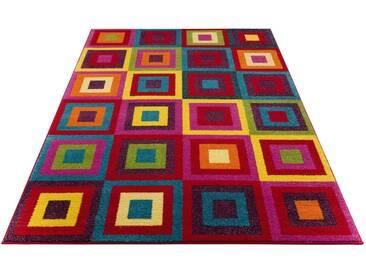my home Selection Teppich »Jorina«, rechteckig, Höhe 12 mm, rot, 12 mm, rot