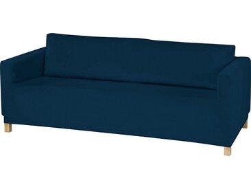 Dohle&Menk Sofahusse »Susi«, samtige Microfaserware, blau, 3-Sitzer, dunkelblau