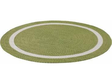 THEKO Teppich »Benito«, rund, Höhe 6 mm, In- und Outdoor geeignet, grün, 6 mm, grün