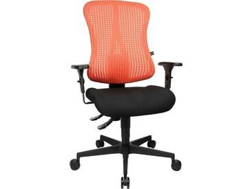 TOPSTAR Bürostuhl »Sitness 90«, schwarz, schwarz/coral rot