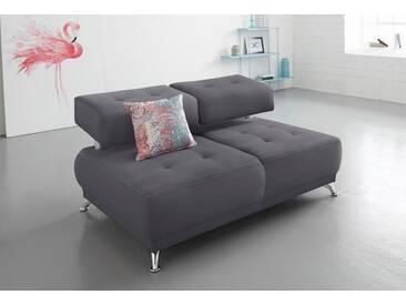 Bruno Banani bruno banani 2-Sitzer Sofa mit Steppung, grau, grau
