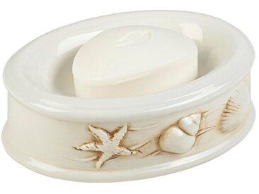 heine home Seifenschale aus Keramik, weiß, weiß/braun