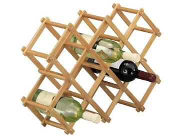 Zeller Present ZELLER Weinregal »Bamboo«, braun, 54 cm, braun