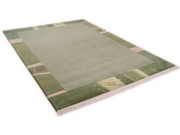 THEKO Teppich »Sierra 12447«, rechteckig, Höhe 14 mm, von Hand geknüpft, grün, 14 mm, grün
