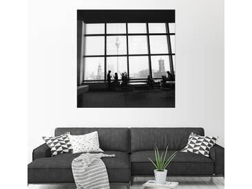 Posterlounge Wandbild - Manfred Uhlenhut »Palast der Republik mit Alexanderplatz«, weiß, Acrylglas, 100 x 100 cm, weiß