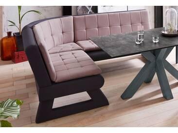 Eckbank »Anders Premium«, Breite 220 cm, grau, langer Schenkel rechts, grau/rosa