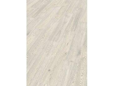 EGGER Korklaminat »HOME Comfort Summersville Eiche weiss«, 1,995 m²/Pkt., Stärke: 8 mm, weiß, weiß