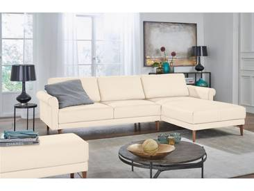 Hülsta Sofa hülsta sofa Polsterecke »hs.450« im modernen Landhausstil, Breite 282 cm, weiß, Recamiere rechts, perlweiß