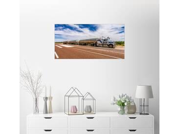 Posterlounge Wandbild - Thomas Hagenau »Road Train Australia«, bunt, Holzbild, 160 x 80 cm, bunt