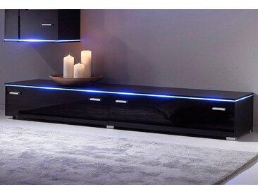 TV-Lowboard, Breite 110 cm, schwarz, schwarz