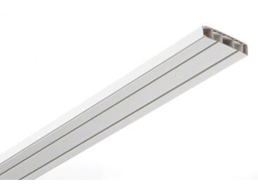 GARDINIA Gardinenstange »Vorhangschienen«, 2-läufig, Fixmaß, weiß, 2-läufig, weiß