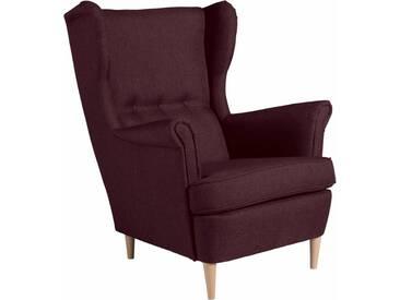 Max Winzer® Ohrensessel »Casimir« im Winchester-Look, rot, burgund