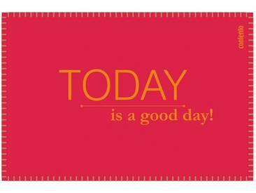 Contento Platzset »Filina - Today is a good day!« (Set 6-tlg), rot, Filz, rot