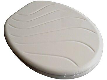 ADOB WC-Sitz »Carina manhattan«, mit Messing verchromten Scharnieren, grau