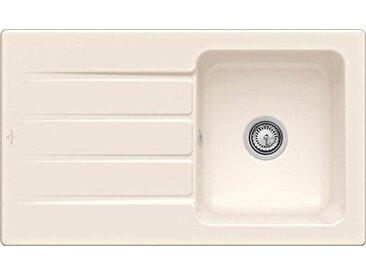 Villeroy & Boch Einbauspüle mit Abtropffläche »Architectura 50«, 86 cm breit, natur, Lochbohrung HL1, Handbetätigung, Crema