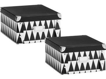 Zeller Present Zeller Aufbewahrungsbox Triangle, schwarz, Maße(B/T/H):(31/26/14)(B/T/H):(31/26/14), schwarz