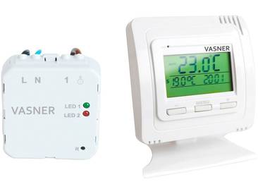 Vasner Thermostat »VFTB-US«, für Infrarotheizung, Sender + Unterputz Empfänger, weiß, weiß