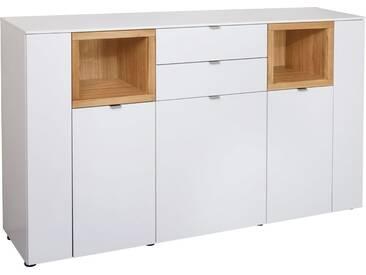 VENJAKOB Sideboard »Andiamo«, mit kontrastfarbenen Absetzungen, Breite 180 cm, natur, Mit Glastür, Kernbuche