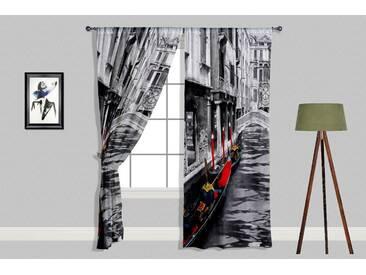 roombird Designer Vorhang mit 2 Schals »Designer Vorhang Aurelia 280 x 240 cm 2 Schals«, bunt, bunt