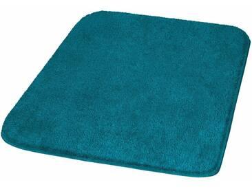 MEUSCH Badematte »Mona« , Höhe 30 mm, rutschhemmend beschichtet, fußbodenheizungsgeeignet, blau, 30 mm, pazifik