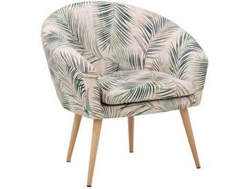 Gutmann Factory Sessel »Pietro« in toller Farbvielfalt, natur, beige-grün blatt