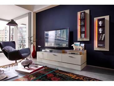 LEONARDO living TV-Bank »CUBE« für die Lowboards, mit 3 Glasfächern, Breite 189 cm, natur, palazzo
