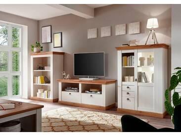 Home affaire Wohnwand »Cremona«, (Set, 3-tlg), weiß, weiß/honigfarben