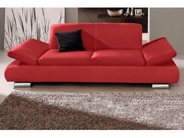 Max Winzer® 2-Sitzer »Toulouse«, mit klappbaren Armlehnen, Breite 190 cm, rot, 190 cm, chilli