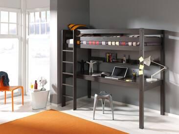 Vipack Furniture Hochbett »Pino«, grau, Kiefer massiv taupe