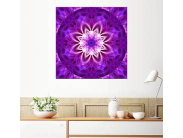 Posterlounge Wandbild - Christine Bässler »Mandala Frauenpower«, lila, Holzbild, 120 x 120 cm, lila