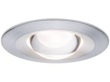 Paulmann LED Einbaustrahler »Nova rund 3x6,8W Alu gebürstet starr blendfrei«, 3-flammig, silberfarben, 3 -flg. /, aluminiumfarben
