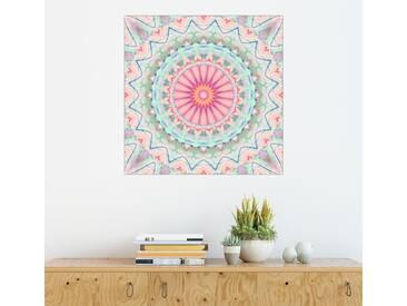 Posterlounge Wandbild - Christine Bässler »Mandala Pastell Nr. 5«, bunt, Holzbild, 120 x 120 cm, bunt